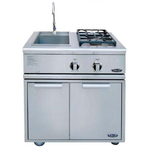DCS BFG30BSL Liberty Propane Gas Side Burner And Sink On