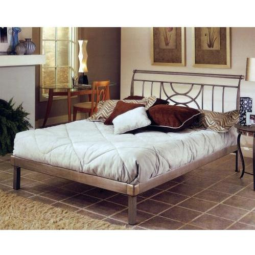Hillsdale Mansfield Brushed Silver Metal Platform Bed Set - Queen - 1238HQR