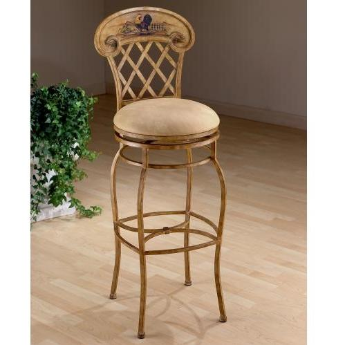 Hillsdale Rooster 26 Inch Swivel Counter Stool - Country Beige - 41344