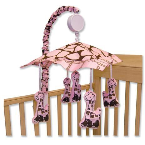 Trend Lab Musical Crib Mobile - Kenya Pink