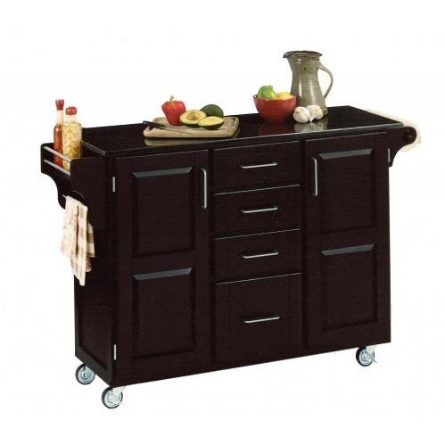 Home Styles Large Kitchen Cart With Granite Top - Black - 9100-1044