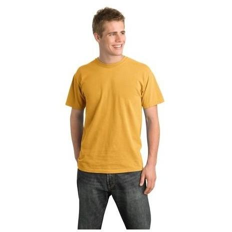 District Threads Pigment-Dyed T-Shirt Large - Mustard