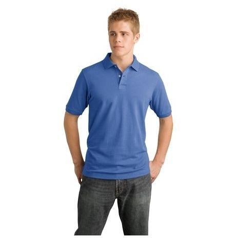 District Modern Pique Polo Shirt 2XL - Ocean Blue