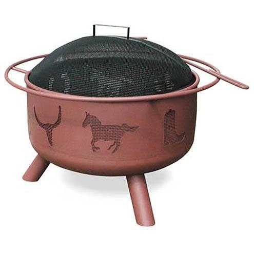 Landmann Big Sky Western Fire Pit With Georgia Clay Finish
