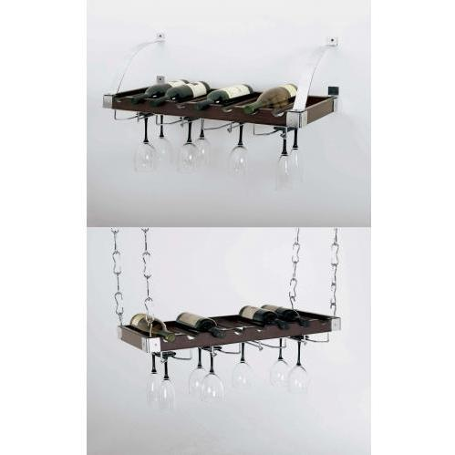 Espresso Wood Wine Rack (8) Bottle Hanging/Wall Wine Rack