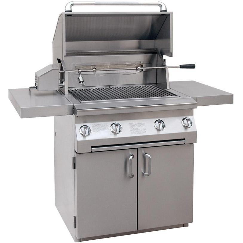 Solaire Gas Grills 30 Inch All Convection Propane Gas Grill With Rotisserie On Cart 2703806