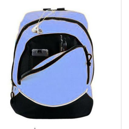 Augusta Tri-color Small Backpack - Columbia Blue/black