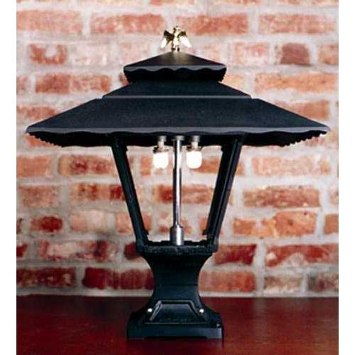 Gaslite America GL1800 Cast Aluminum Manual Ignition Natural Gas Light With Open Flame Burner And Pedestal Mount