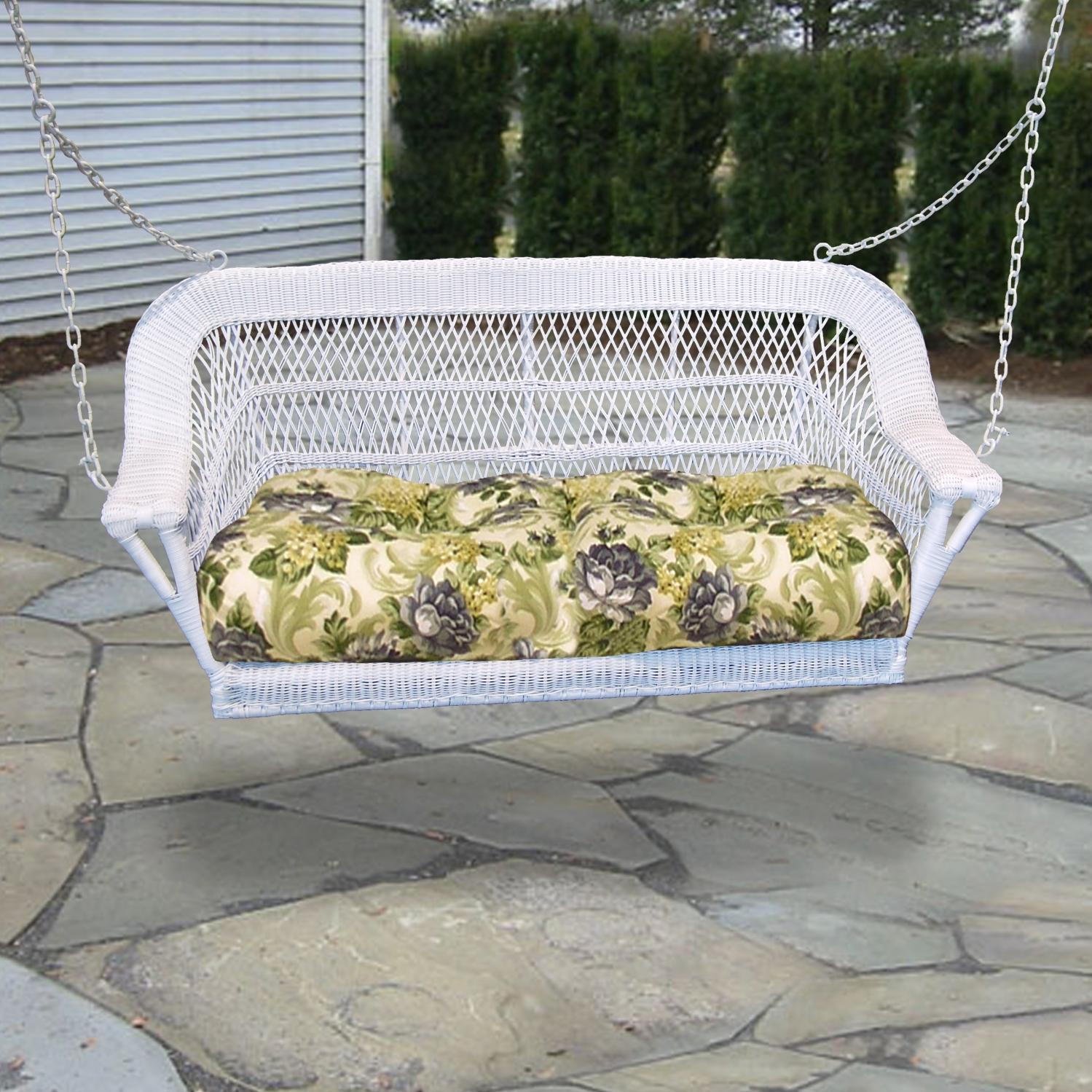 North Cape Manchester Resin Wicker Porch Swing - White