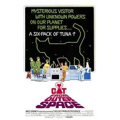 The Cat From Outer Space Poster Print