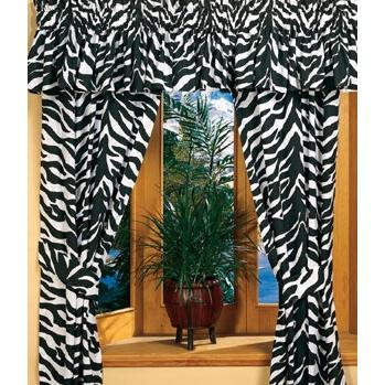 Karin Maki Window Curtain - Zebra Black