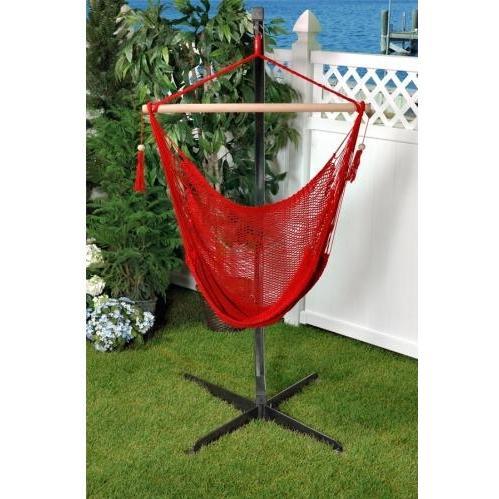 Bliss Hammocks Tahiti Rope Hammock Chair - Red