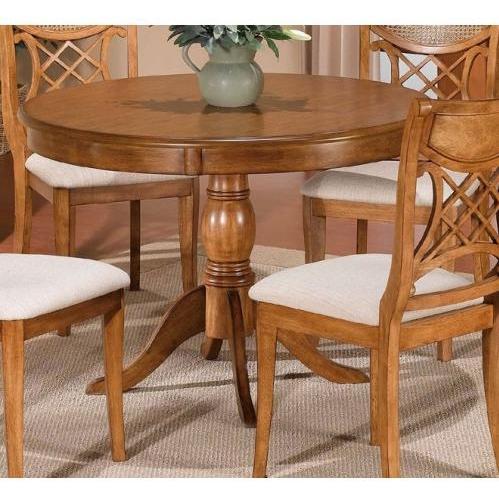 Hillsdale Glenmary/bayberry Round Pedestal Table With Oak Veneer - Oak - 4766dtb