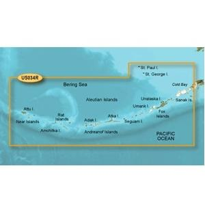 Garmin Bluechart G2 VUS034R Aleutian Islands - Vistion Micro SD And SD