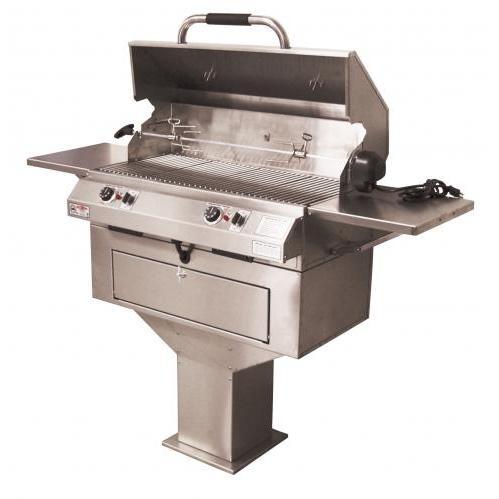 Electri-Chef 32 Inch Dual Control Pedestal Base Electric Grill