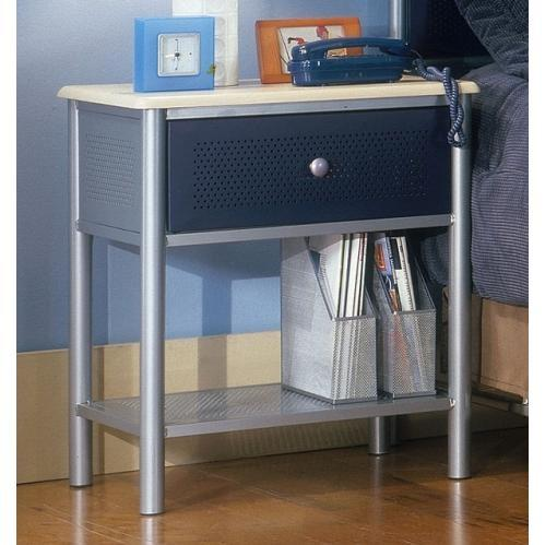 Picture of Hillsdale Universal Silver And Navy Youth Nightstand - 1177-771