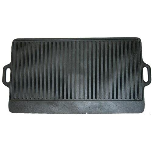Cajun Cookware 28 Inch Reversible Seasoned Cast Iron Griddle - GL10494AS