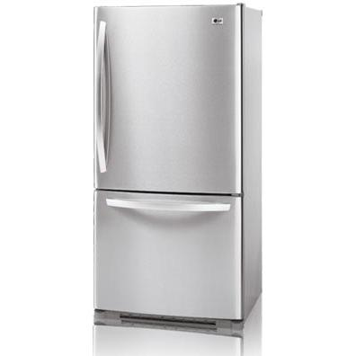 LG LDC22720ST 22.4 Bottom Mount Refrigerator / Freezer - Stainless Steel Doors / Platinum Cabinet