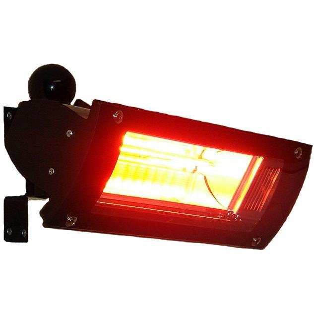 Fire Sense 1500 Watt Wall Mounted Glass Front Electric Infrared Patio Heater - Black