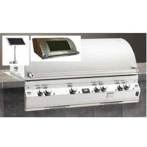 Fire Magic Gas Grills Echelon E1060i All Infrared Natural Gas Built-In Grill With Solar Panel & Magic View Window