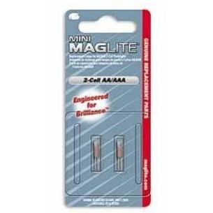 MagLITE Replacement Mini-Mag AA Bulbs - 2 Pack