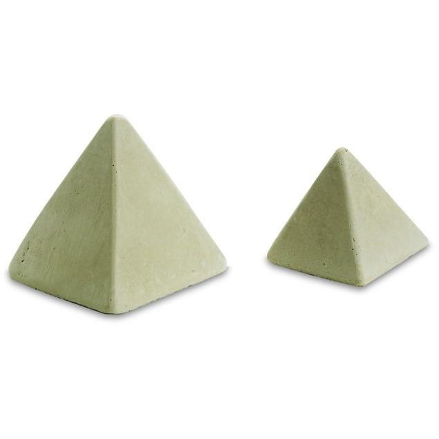 Peterson Gas Logs Decorative Geo Shapes Ivory 4-Sided Pyramid Set - Set Of 4