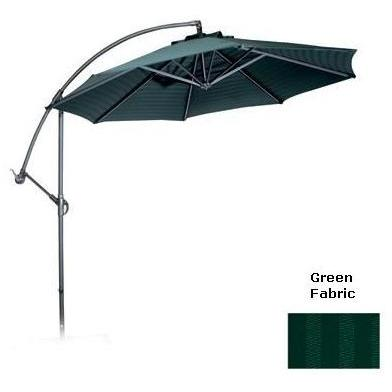 Meadow Decor 10 Foot Universal Cantilever Umbrella - Forest Green Fabric