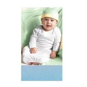 Bella Baby 1x1 Rib Long Sleeve Infant Sleeper 12 Months - Baby Blue