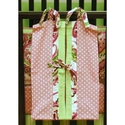 My Baby Sam Diaper Stacker - Pink Paisley Splash
