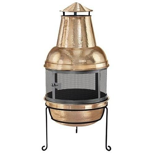 Kay Home Products Copper Chimenea Fireplace