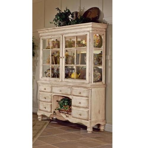 Hillsdale Wilshire Buffet And Hutch - Pine/antique White - 4508bh