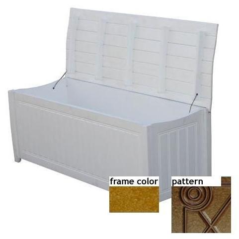 Eagle One Recycled Plastic Brisbane Curved Top Deck Box Diamond Pattern - Cedar