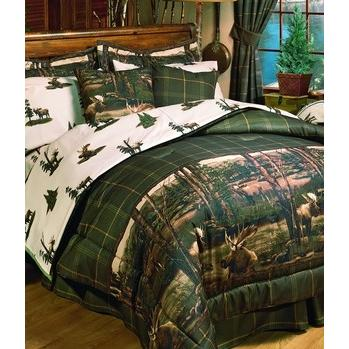 Blue Ridge Trading Moose Mountain Queen Comforter Bedding Set