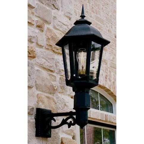 Gaslite America GL1200 Cast Aluminum Manual Ignition Natural Gas Light With Dual Mantle Burner And Standard Wall Mount