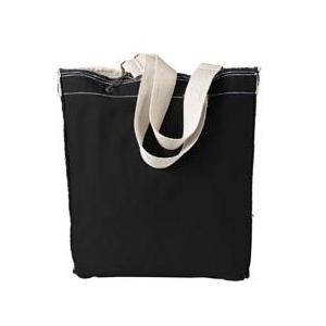 Authentic Pigment Direct-Dyed Raw-Edge Tote - Black