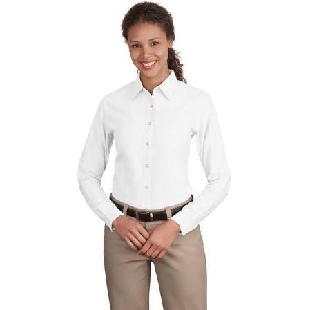 Port Authority Ladies Classic Oxford Shirt Medium - White