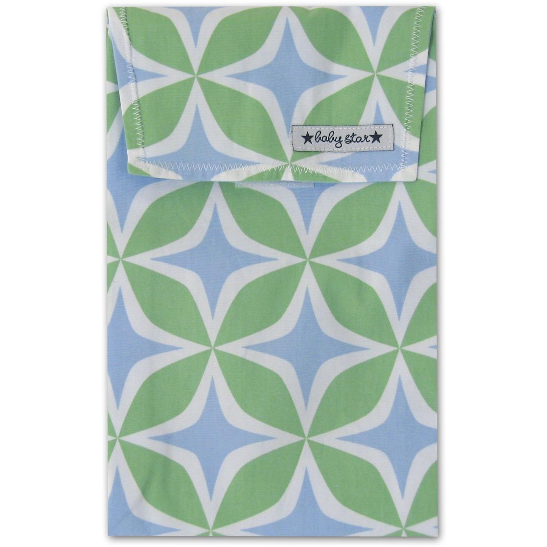 Baby Star Quick Change Diaper Pouch - Four Square Blue.