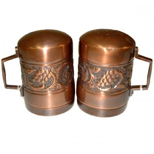 Old Dutch Antique Copper Salt And Pepper Shakers