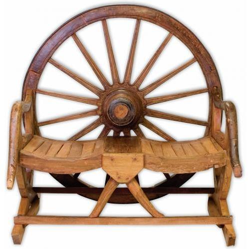 Groovy Stuff Arapaho Teak Wood Wheel Bench - TF-048-A