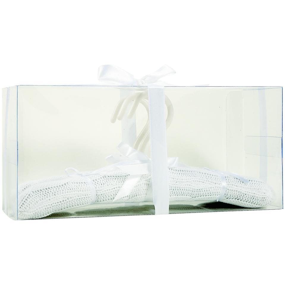 Elegant Baby Knit Padded 3-Pack Hangers - White