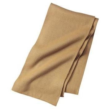 Port & Company Knitted Scarf - Camel