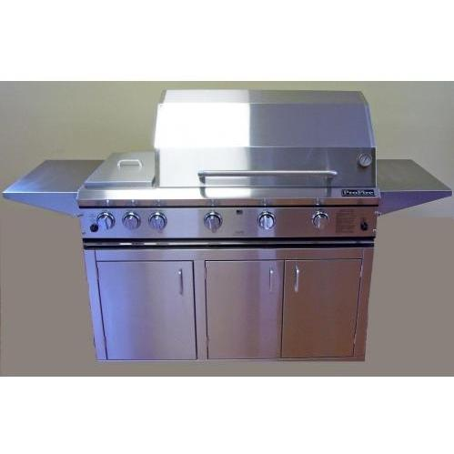 ProFire Professional Series 48 Inch Hybrid Natural Gas Grill With Rotisserie And Double Side Burner - On Cart 2542092