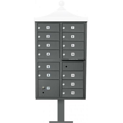 Regency F-Series 13-Door Cluster Box Unit - Black