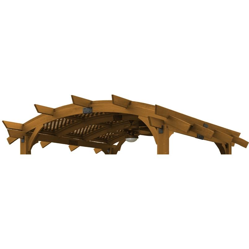Outdoor GreatRoom Company Lattice Roof For Sonoma 10 X 10 Pergola - Redwood Finish