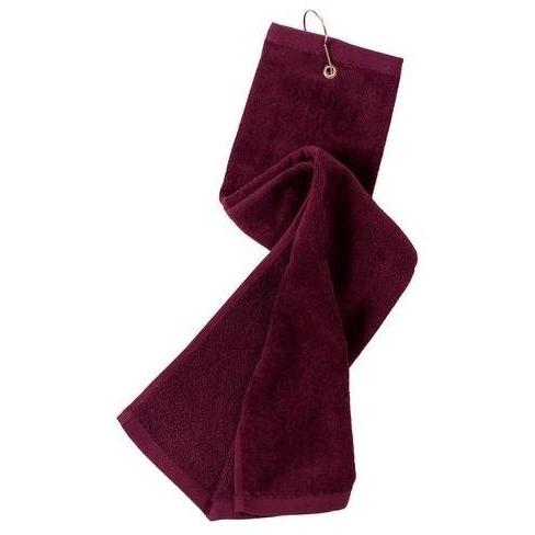 Port Authority Grommeted Tri-Fold Golf Towel - Maroon