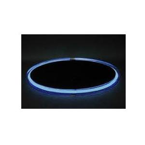 Neon Concepts 15 Inch Round Clear Top Serving Tray (Blue Neon / Disposable Battery)