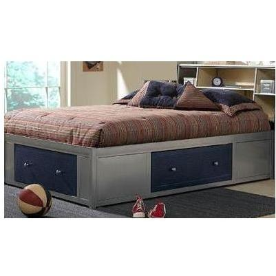 Hillsdale Universal Silver And Navy Youth Storage Platform Bed With Bookcase Headboard - Full - 1178472BFR
