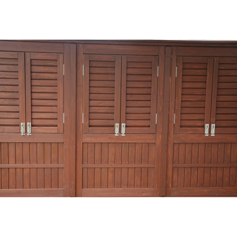 Outdoor GreatRoom Company Privacy Panels For One Wall Of The Outdoor Greatroom Company Sonoma 10 X 10 Pergola Mocha Finish