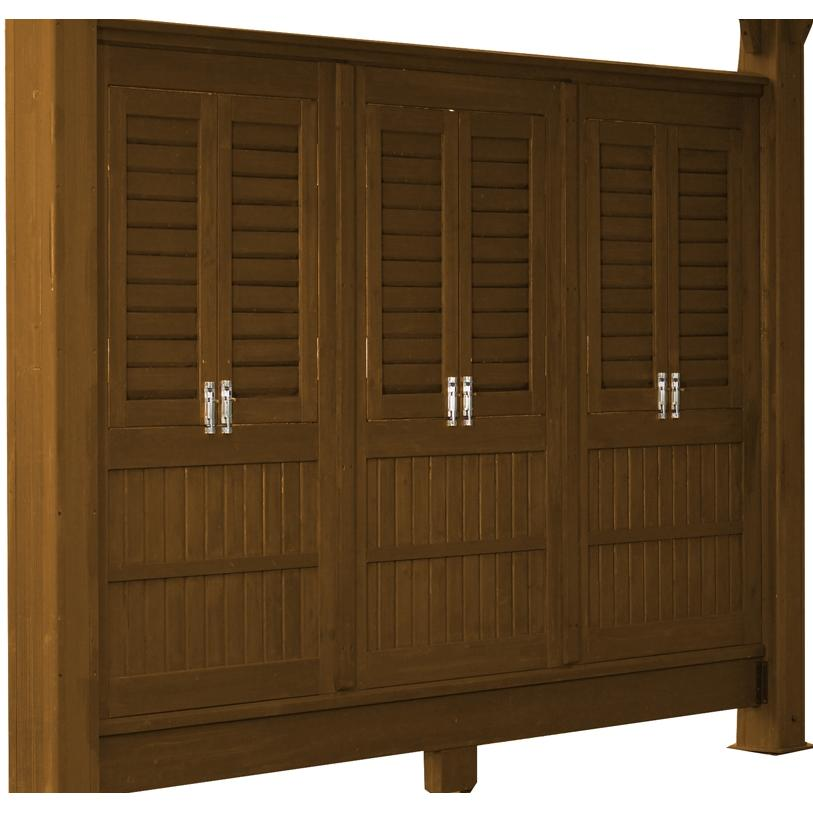 Outdoor GreatRoom Company Privacy Panels For One Wall Of The Outdoor Greatroom Company Sonoma 10 X 10 Pergola - Redwood Finish