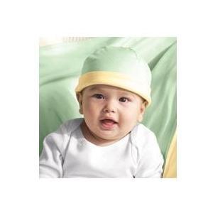 Bella Baby 1x1 Rib Infant Reversible Beanie - Pale Green/Pale Yellow